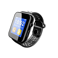 1.44 Inch TFT Pedometer Sleep Monitoring Bluetooth V3.0 Smart Watch SIM Slot For Iphone Android Phone Black