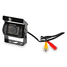 170 Degree View Angle 24 SMD LED Rearview Camera for Vehicles with Night Vision Function - Black