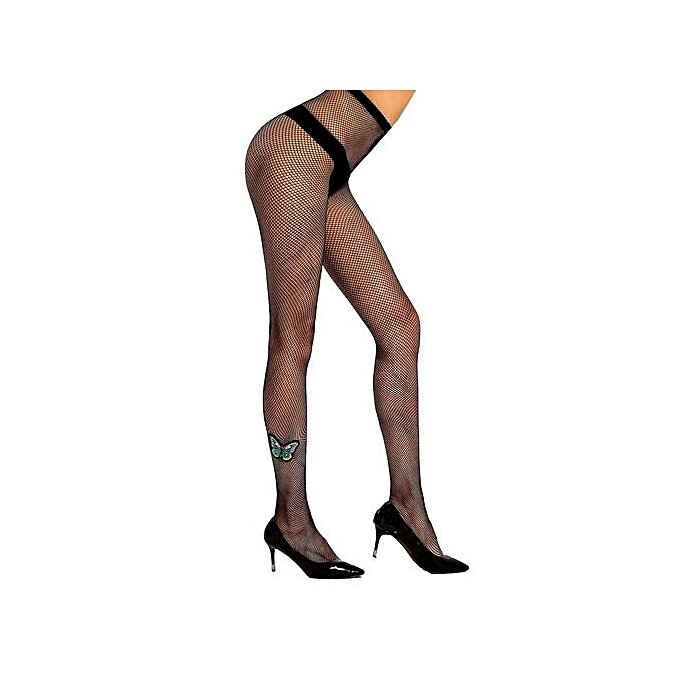 6d22b9a712a69 Wenrenmok Store Women's Sexy Pantyhose Hot Drilling Fishnet Stockings  Perspective Lingerie-Black