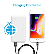 VOLTAG-10C: White 10,000mAh  Power Bank & charges 2 devices simultaneously