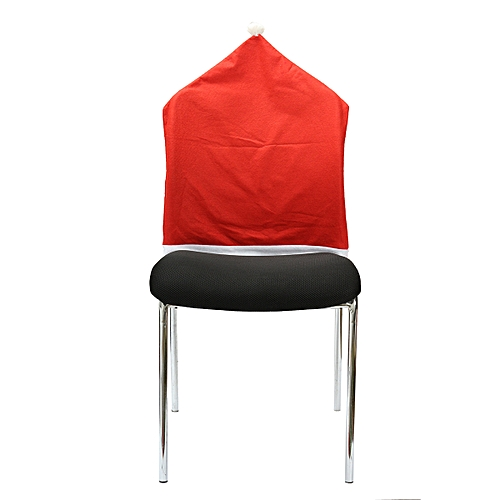 46dc68d0cd7d7 Generic 6pcs Christmas Chairs Back Cover Dinner Table Santa Hat Home Party  Xmas Decor Gift