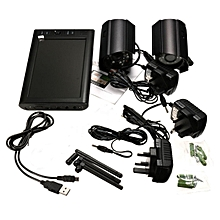 "7"" LCD Monitor DVR&2 Wireless CCTV Camera Motion Detect Security System UK Plug"