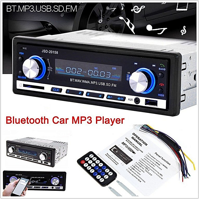 Bluetooth Car MP3 Player Stereo In-dash Aux Input Receiver USB Radio
