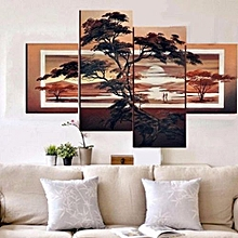 20 X 30cm&20 X 50cm Large Modern Abstract Pine Sunset Art Oil Painting Wall Decor Canvas NO Frame