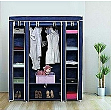 Portable Wardrobes  - 3 Columns - Navy Blue