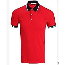Red and Black Polo Tshirt
