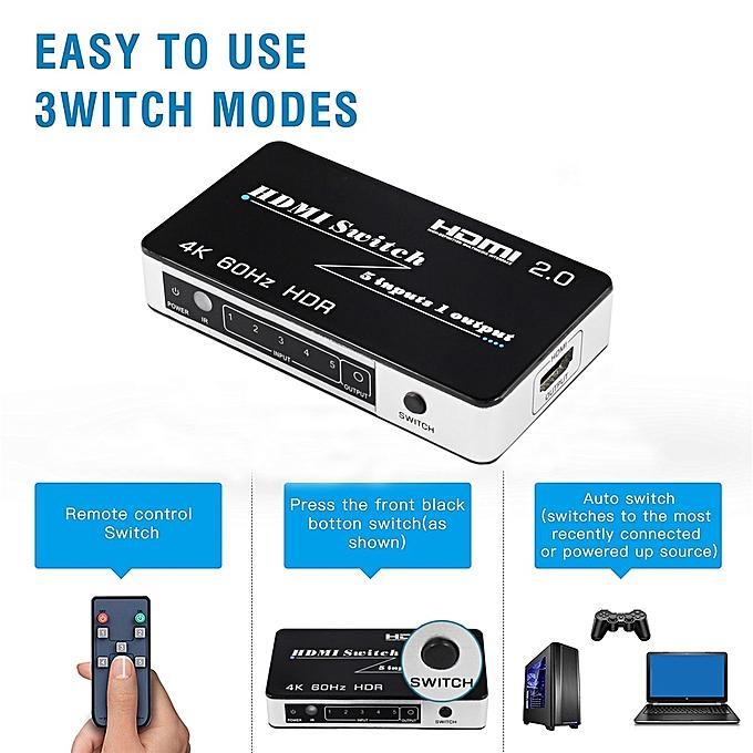 79b84c9784248 Mini HDMI 2.0 Switch HDR HDCP 2.2 3x1 5x1 HDMI Switch 2.0 4K HDMI Switch  HUB Box 3 / 5 Port HDMI Switch Switcher 4K for PS4 Pro ASQOB
