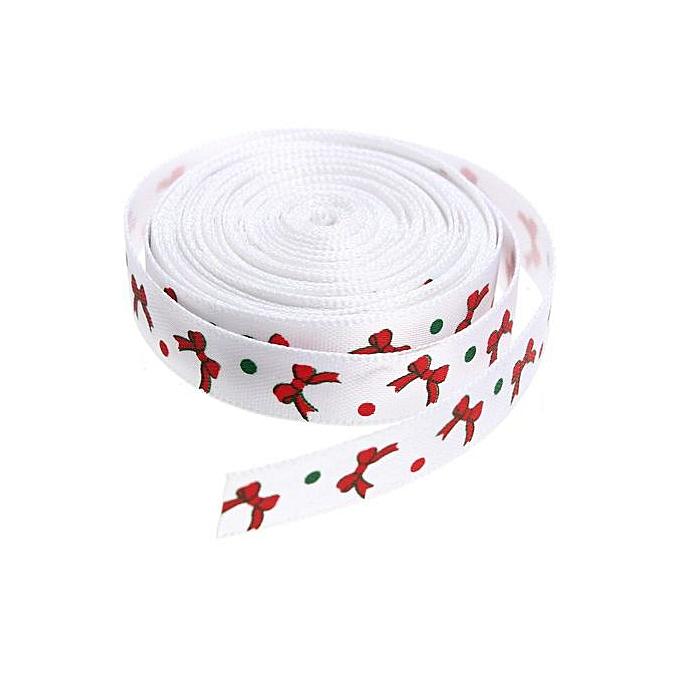 5 Yard 10mm Christmas Grosgrain Ribbon Xmas Gift Wraps Hairbow DIY Craft Supply