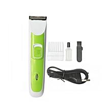 NHC-3890 Hair Trimmer - White & Green