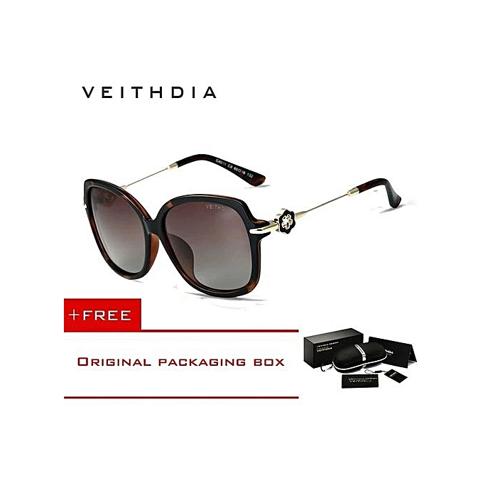 e4d9e8cc7a VEITHDIA TR90 Womens Driving Sun Glasses Polarized Mirror Lens Luxury Ladies  Designer Sunglasses Eyewear For Women