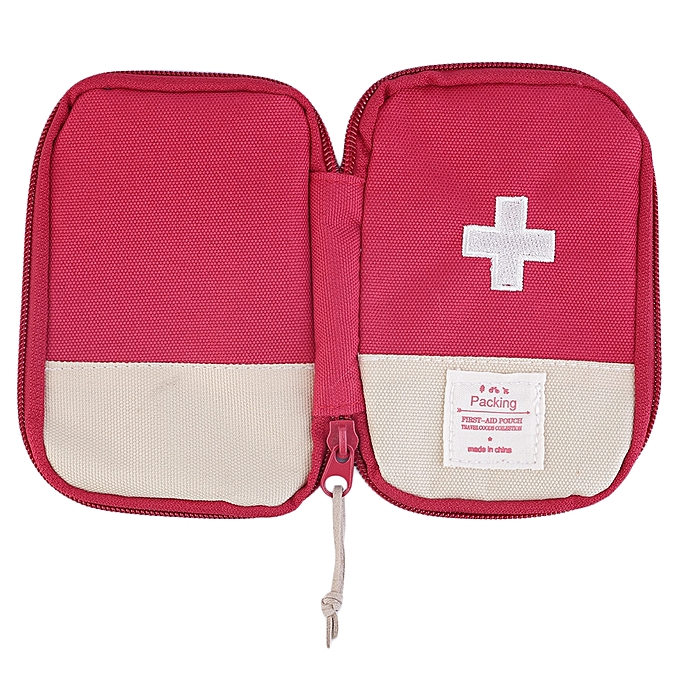84da1a4e704f ... Outdoor Camping Home Survival Portable First Aid Kit Bag Case-Red ...