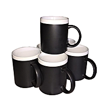 Coffee Tea Mug - Set of 6 - Stripped - Black & White