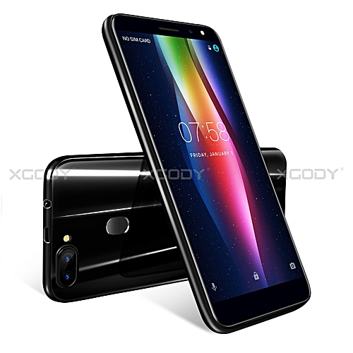 "6.0"" 8 MP un-locked Smartphone Android 5.1 Mobile Phone 16GB Dual SIM 4Core-black"