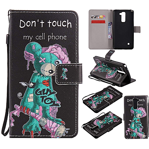 size 40 c6c38 bdc6b LG Stylo 2 / Stylo 2 Plus / Stylo 2 V Leather Wallet Case with Kickstand  Credit Card Holder Magnetic Closure Shockproof Flip Case Cover for LG Stylo  2 ...