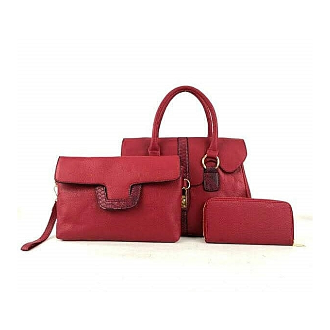 8ae8155d74e5 Generic Ladies Handbag 3 in 1 - Red   Best Price