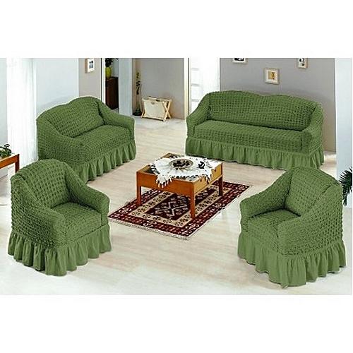 Sofa Seat Covers   3+2+1+1   Jungle Green