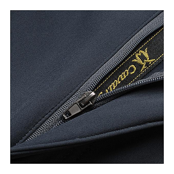 fe536f8f5 Mens Sport Pants Elastic Waist Soft Shell Warm Fleece Lined Waterproof  Quick-Dry Outdoor Trouser