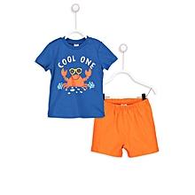 Blue and Orange Fashionable Pyjamas Set