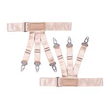 TB Men Male Garter Shirt Stays Suspenders Elastic Adjustable Holder Braces skin color