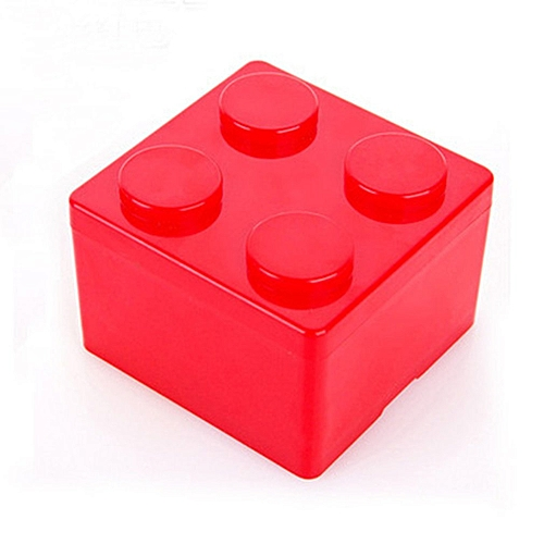 Allwin Building Block Shape Stackable Storage Box Desktop Plastic