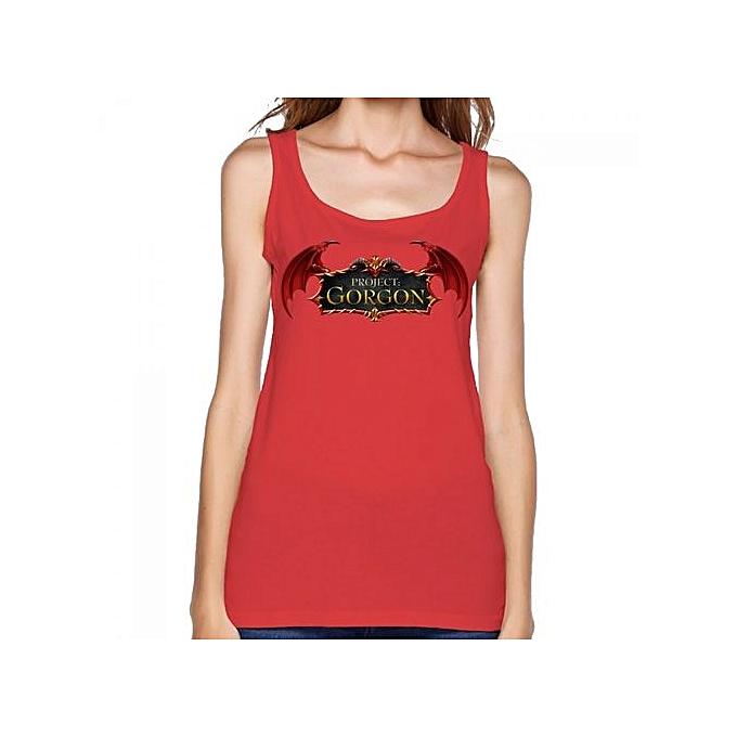 Project Gorgon Game Logo Women's Print Vest Tank Tops Red