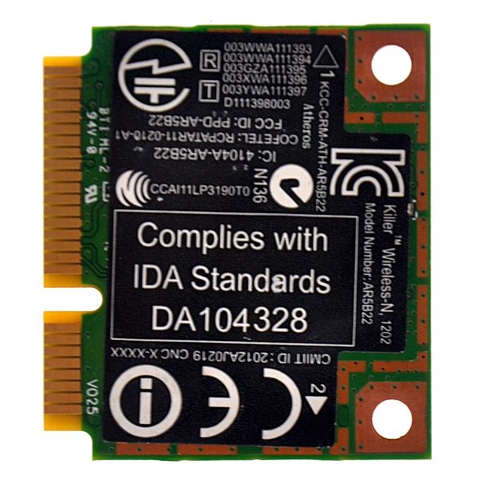 for AR5B22 AR9462 Dual Band 300Mbps Wireless Mini PCI-e WiFi Adapter PCi  Express WLAN Card + Bluetooth 4 0(Killer N1202 AR5B22)
