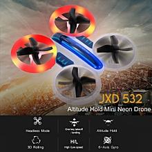 532 Altitude Hold Mini Neon Drone Headless Mode 3D Flip LED Light RC Quadcopter Toy Kids Gift