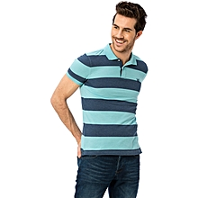 Turquoise Fashionable Standard Short Sleeve T-Shirt