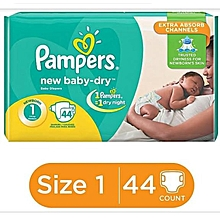 DIAPERS.VALUE PACK SIZE 1(NEWBORNS) 44PIECES