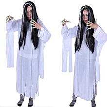 Halloween Funny Full Head Clip Synthetic Cosplay Wire Straight Hair Wig BK