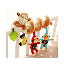 Monkey Family Design Baby Bed Stroller Plush Toy Pram Crib Ornament Hangings