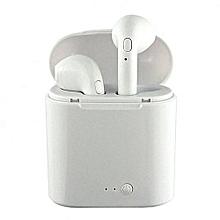 Wireless Earphones BT Earbud Anti-noise Stereo Headset Twin Earphones.