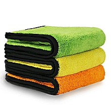 Car Cleaning Towels, Extra Thick Coral Velvet Towel , Drying Auto Detailing Towel, Super Absorbent,840gsm(Pack Of 3)