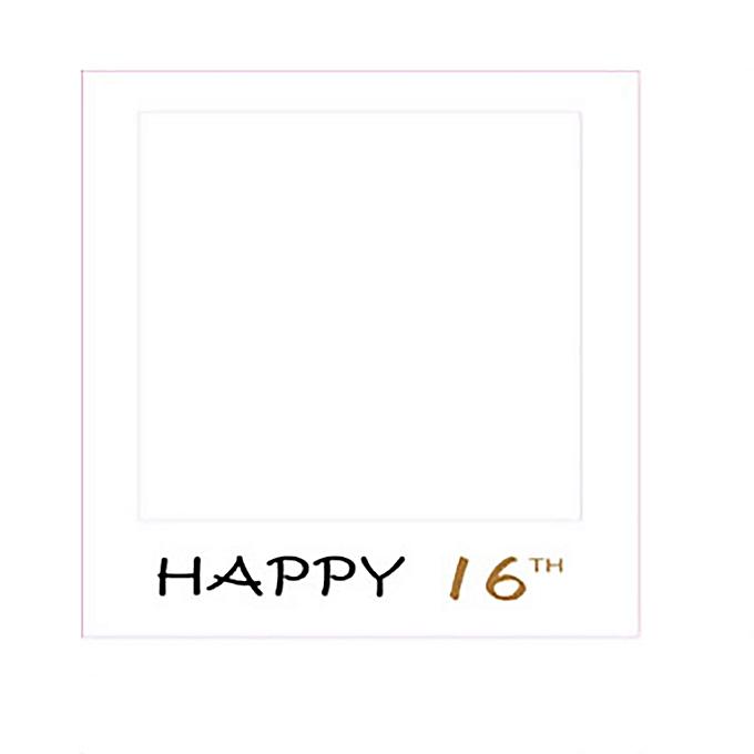 Buy Generic Frame Photo Booth Props Happy Birthday Selfie 16/18/21 ...