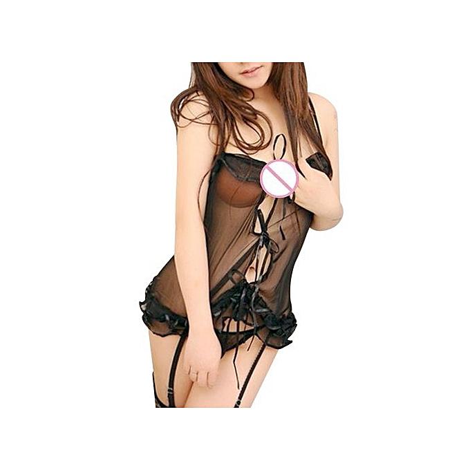 6cba9ad18468 Hot Women s Lace Lingerie Dress Nightwear Underwear Babydoll Sleepwear  G-string