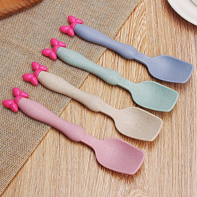 Baby Tableware Set Wheat Straw Bowls Infant Feeding Plate With Fork Spoon Childr Bowls & Plates Baby