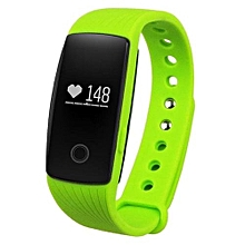 ID107 Bluetooth Smart Watch With Heart Rate Monitor Waterproof Wristband(Green)