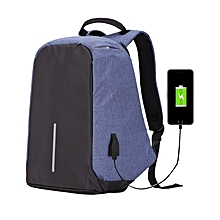 Multi-function Large Capacity Travel Anti-theft Security Casual Backpack Laptop Computer Bag With External Usb Charging Interface For Men / Women, Size: 42 X 25 X 23 Cm(blue)
