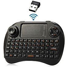 Viboton Mini 2.4GHz Wireless Keyboard with 3 LED Indicator for HTPC / PC / PS3 etc.