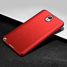 360 Full Body Protection Hard Slim Case Coated Non Slip Matte Surface with Tempered Glass Screen Protector for Samsung Galaxy Note 3  XYX-S