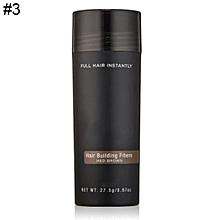 Unisex Hair Building Fibers 9 Colors Hair Loss Solutions Full Hair Powder 27.5g-3#