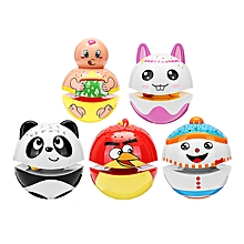 Christmas Cute Luminous Tumbler Doll Projection With Music Baby Toys For Kids Children Gift-