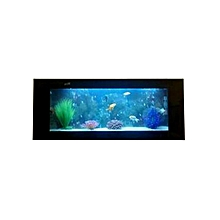 Plasma Aquarium   - Clear Glass with Assorted Boarders, Black, Yellow, Gold