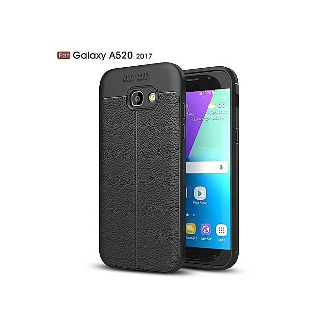 on sale 4f7db 74e6b Samsung Galaxy A5(2017) Silicone Case Litchi Pattern TPU Cover - Black