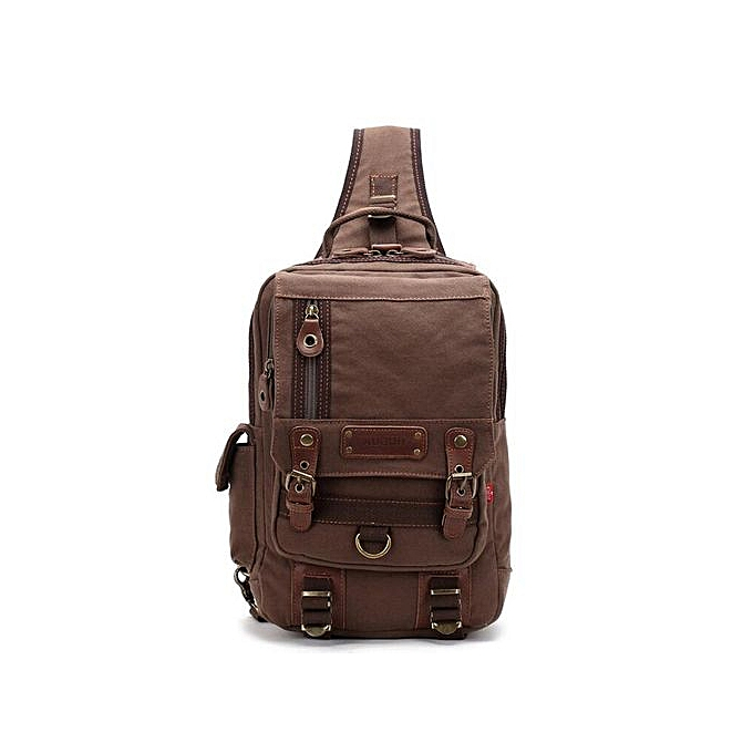585dcd0a1c Male Casual Travel Larger Sling Chest pack Bag Men s Canvas Messenger Chest