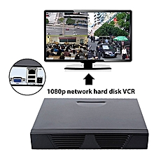 4CH 1080P Network Hard Disk CCTV Security Video Recorders DVR Camera NVR US Plug