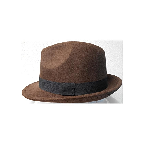Hats Off Kids Children Trilby Jazz Hat with Black Band - Dark Brown ... b091729be8f