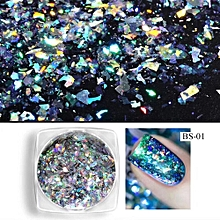 Mirror Glitter Aluminum Flakes Magic Mirror Effect Powders Sequins Nail DIY