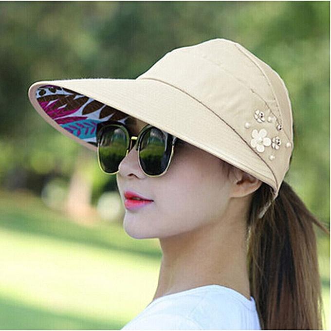 883e96751bba1 Sun Hats for Women Visors Hat Fishing Fisher Beach Hat UV Protection Cap  Black Casual Womens