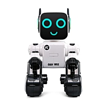 R4 Multifunctional Voice-activated Intelligent RC Robot - White